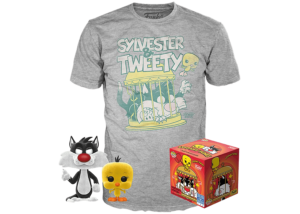 Funko Pop! & Tee Looney Tunes: Sylvester and Tweety Flocked #309