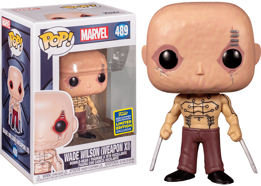 Marvel Wade Wilson Weapon XI SDCC Shared Exclusive #489 Funko Pop