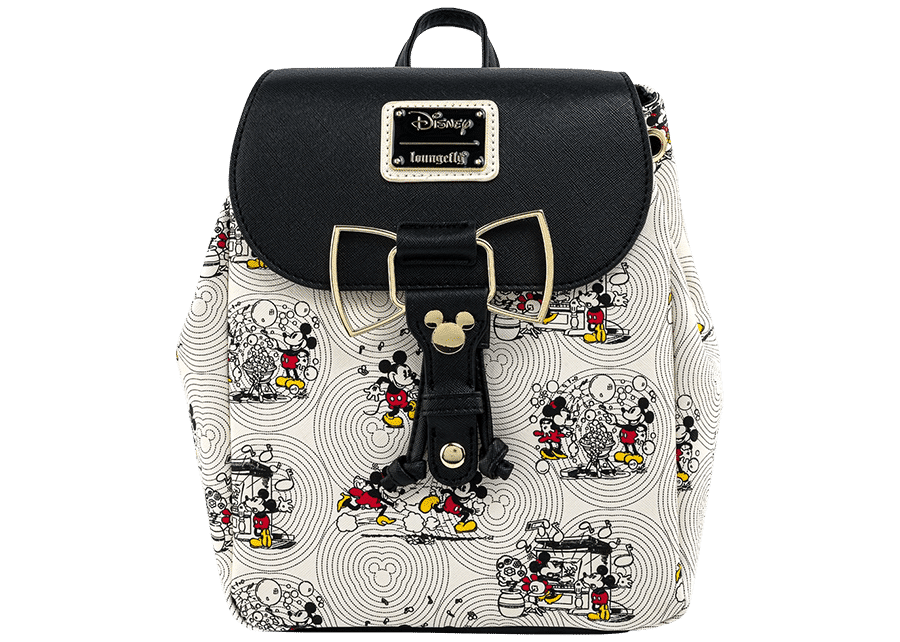 Loungefly: Mickey Head Bow Hardware AOP Backpack