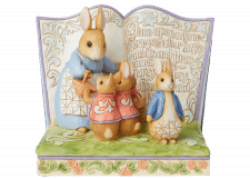 "Beatrix Potter by Jim Shore: Storybook ""Once Upon a Time There Were Four Little Rabbits"""