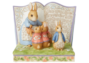"""Beatrix Potter by Jim Shore: Storybook """"Once Upon a Time There Were Four Little Rabbits"""""""