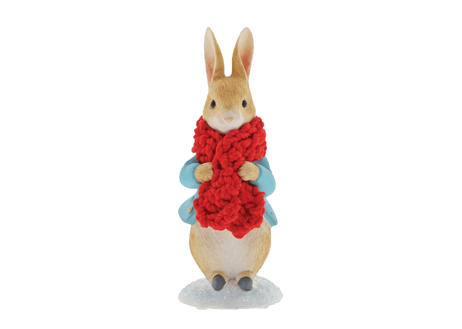 Beatrix Potter: Peter Rabbit in a Festive Scarf Figurine