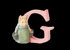 Peter Rabbit Alphabet Letters: G - Aunt Pettitoes