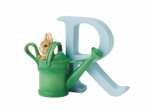 Peter Rabbit Alphabet Letters: R - Peter Rabbit in Watering Can