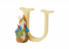 Peter Rabbit Alphabet Letters: U - Peter Rabbit with Radishes