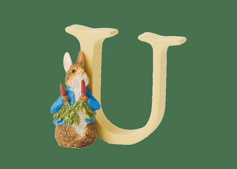 Peter Rabbit Alphabet Letters: U - Peter Rabbit with Radishes