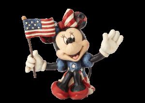 Disney Traditions: Minnie Patriotic Mini Figurine
