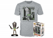 Funko Pop! and Tee The Mandalorian: IG-11 with the Child #427