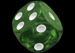 Oakie Doakie Dice: Marble - Green
