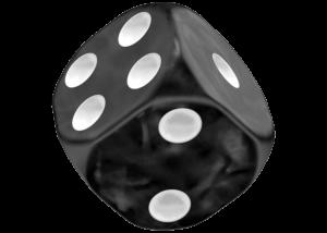 Oakie Doakie Dice: Marble - Black