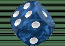 Oakie Doakie Dice: Marble - Blue