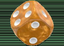 Oakie Doakie Dice: Marble - Orange