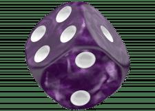 Oakie Doakie Dice: Marble - Purple