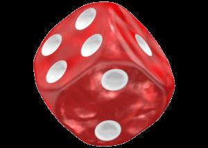 Oakie Doakie Dice D6 Dice 16 mm Marble - Red
