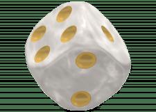 Oakie Doakie Dice: Marble - White