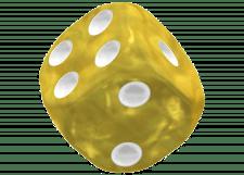 Oakie Doakie Dice: Marble - Yellow