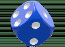 Oakie Doakie Dice: Solid - Blue