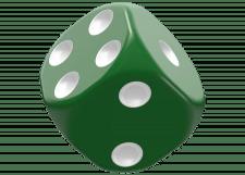 Oakie Doakie Dice: Solid - Green