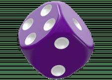 Oakie Doakie Dice: Solid - Purple