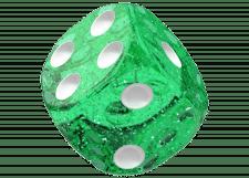 Oakie Doakie Dice: Speckled - Green