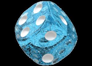 Oakie Doakie Dice: Speckled - Light Blue