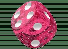 Oakie Doakie Dice: Speckled - Pink