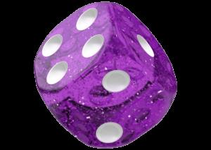 Oakie Doakie Dice: Speckled - Purple