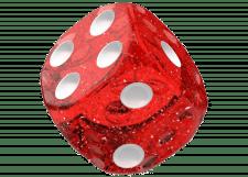 Oakie Doakie Dice: Speckled - Red