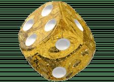 Oakie Doakie Dice: Speckled - Yellow