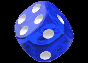 Oakie Doakie Dice: Translucent - Blue