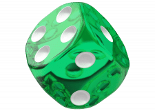 Oakie Doakie Dice: Translucent - Green