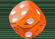 Oakie Doakie Dice: Translucent - Orange