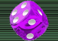 Oakie Doakie Dice: Translucent - Purple
