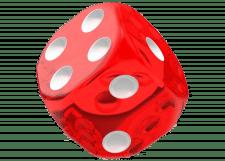 Oakie Doakie Dice: Translucent - Red