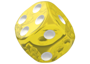 Oakie Doakie Dice: Translucent - Yellow
