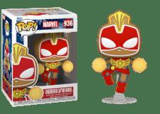 Funko Pop! Marvel Holiday: Gingerbread Captain Marvel #936